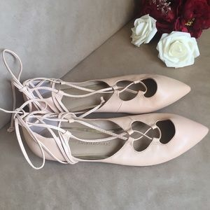 NWOT•BANANA REPUBLIC•Allie Lace-Up Ballet Flats•